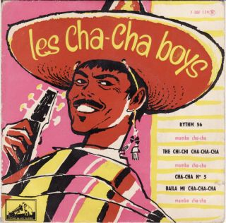 RARE Cha Cha Boys Rythm 56 French 50s Latin Jazz EP