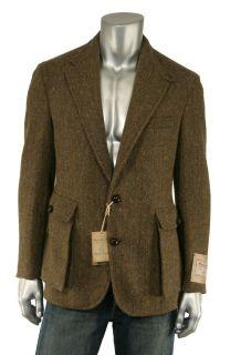 Ralph Lauren RRL Harris Tweed Wool Blazer Jacket 42 R New $990