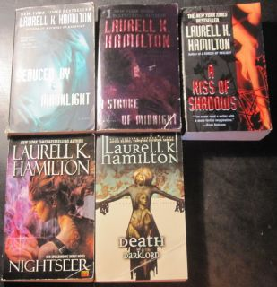 Lot of 5 Laurell K Hamilton Gentry Series 1 3 4 Kiss of Shadows