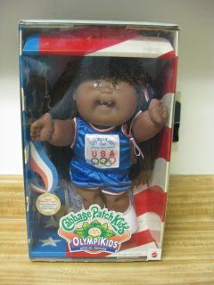 1995 Cabbage Patch Kids Olympikids Black doll with original box and