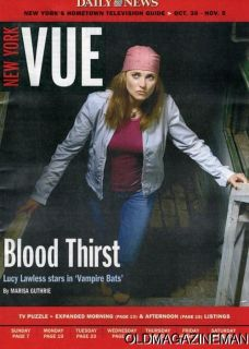 Lucy Lawless Xena Vampire Bats New York Vue Magazine