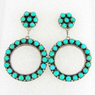 Sterling Silver Snake Eye Turquoise Stud Earrings LAWRENCE LONASEE J M