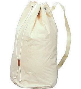Large Cotton Canvas Laundry Drawstring Duffle Bag Laundry Room