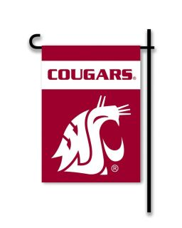 Washington State Cougars Garden Flag 2 Sided