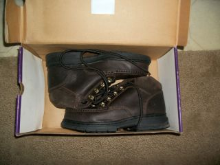 Womens Safety Shoes Hush Puppies ESD Steel Toe Shoes Sz 6 5W 37206