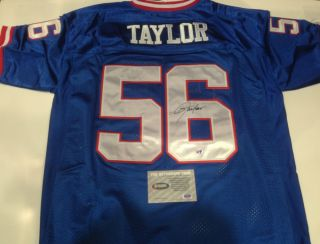 Lawrence Taylor autographed Giants authentic throwback blue Jersey w