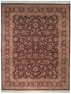 Knotted Kerman Purple Multi Wool Carpet Area Rug 2 6 x 4