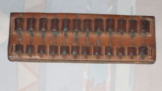 Lawrence Leather Belt Loop Shell Holder Ammo Carrier