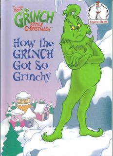 Grinch Got So Grinchy NEW DR Seuss BEGINNER Book CHRISTMAS Learn READ