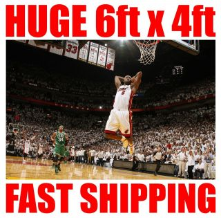 Lebron James NBA Miami Heat Better Than Fathead Stickers or Poster