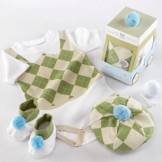 Piece Boy Layette Set Golf Tee Baby Shower Gift Costume 0 6 Months