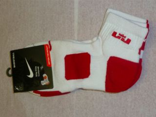 Nike Elite Lebron James Cushioned Basketball Dri Fit Socks 2 Pairs