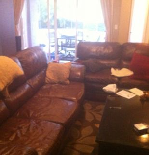 Leather Sofa Loveseat Bonus Coffee Table