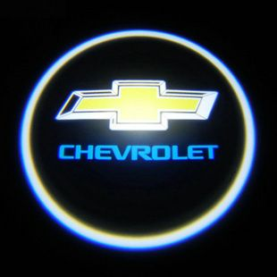 Car Emblem Badge Chevrolet LED Laser Projection Lamp x 2