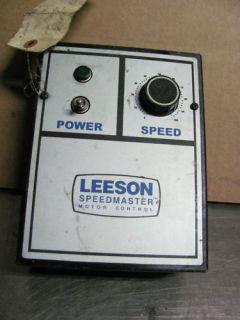 Leeson Speedmaster Motor Control Model 174307 00 738