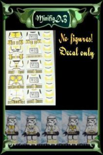 Lego Custom Star Wars Yellow Clone Trooper Decals x 5