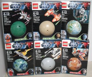 Lego Star Wars Sets NIP Series 1 2 Worlds 9674 9675 9676 9677 9678