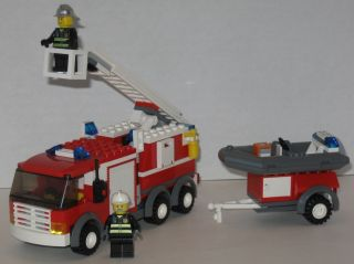 Lego Town 7239 City Fire Truck Complete