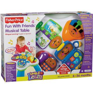 Fisher Price Laugh Learn Fun Musical Table New