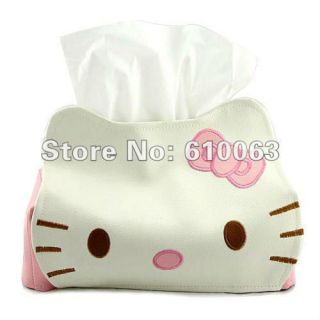leather tissue box cortoon hello kitty tissue pumping paper towel box