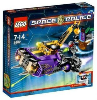NEW Lego SPACE POLICE Set 5982 SMASH N GRAB Alien SQUIDTRON Purple