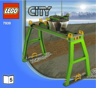 Lego City Train Crane Lift Figure New 7939 Intrntnl Shipping