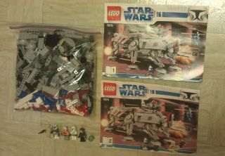 Lego 7675 Star Wars Clone Wars AT TE Walker Parts Lot w ALL