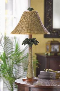 Rattan Styled Palm Tree Table Lamp 25 1 2High Ret$69