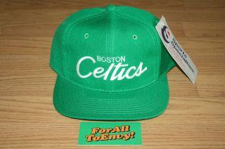 Boston Celtics Sports Specialties Script Snapback Hat Len Bias