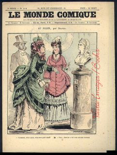 Le Monde Comique 14 Paris Circa 1860s Humor Satire Sale CLEARANCE
