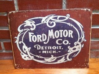 1950s Style Metal TIn Sign *FORD MOTOR CO. Barn Find style Antique