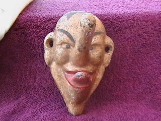Vintage Wall Mount Cast Iron Face Coat Hat Hanger