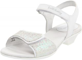 New Lelli Kelly Kids Shoes Bling White Shiny Sandals Girl 4 5 Youth 36