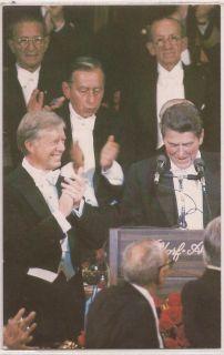 President Ronald Reagan Postcard 1980 Campaign w Jimmy Carter Al Smith