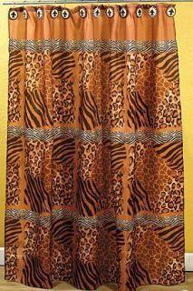 Animal Print Leopard Wild Safari Shower Curtain