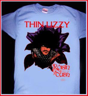 Thin Lizzy Black Rose T Shirt Phil Lynott Vintage Glam