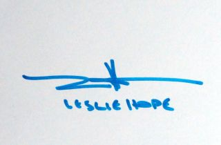 Leslie Hope Signed 6x4 Index Card Autograph The Mentalist The River 24