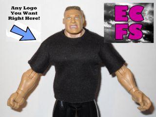 Custom Shirt for Brock Lesnar Mattel Jakks WWE UFC TNA F5 Figures