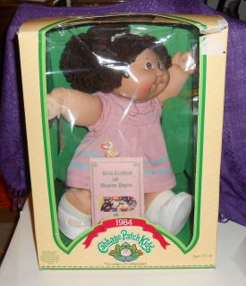 Vintage Cabbage Patch Kids Leora Caren Coleco 1984 with Box and Papers