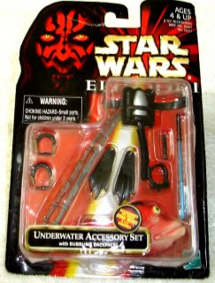 Star Wars Underwater Accessory Set 1998 Old New