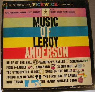 THE MUSIC OF LEROY ANDERSON   WARREN E. VINCENT,   REEL TO REEL TAPE