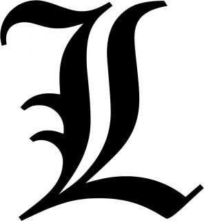 Old English Letter L Initial Decal 5 75 Choose Color