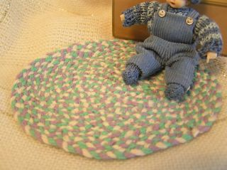 World of Miniature Bears Dollhouse Mini Braided Rug