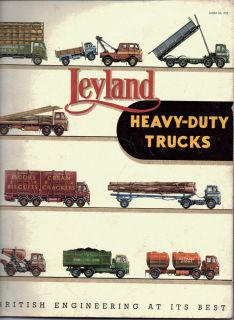 Leyland Heavy Duty Trucks Sales Brochure 1955