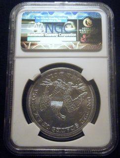1859 O SEATED LIBERTY DOLLAR SILVER $1 KM 71 NGC UNC, DETAILS FREE USA