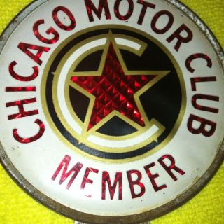 Chicago Motor Club Member Vintage License Plate Topper