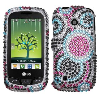 Circle Diamond Bling Hard Case Cover for LG Cosmos Touch VN270