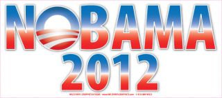 Anti Obama NOBAMA 2012 Liberal Bumper Sticker 10x3 325