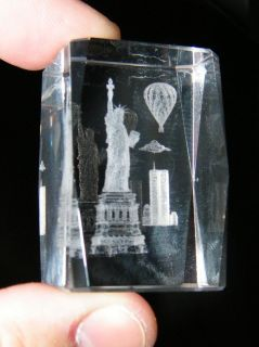 Statue of Liberty World Trade Center 911 New York City 3D Laser