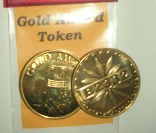 Mills Gold Award Token Antique Slot Machine Gold Award Tokens